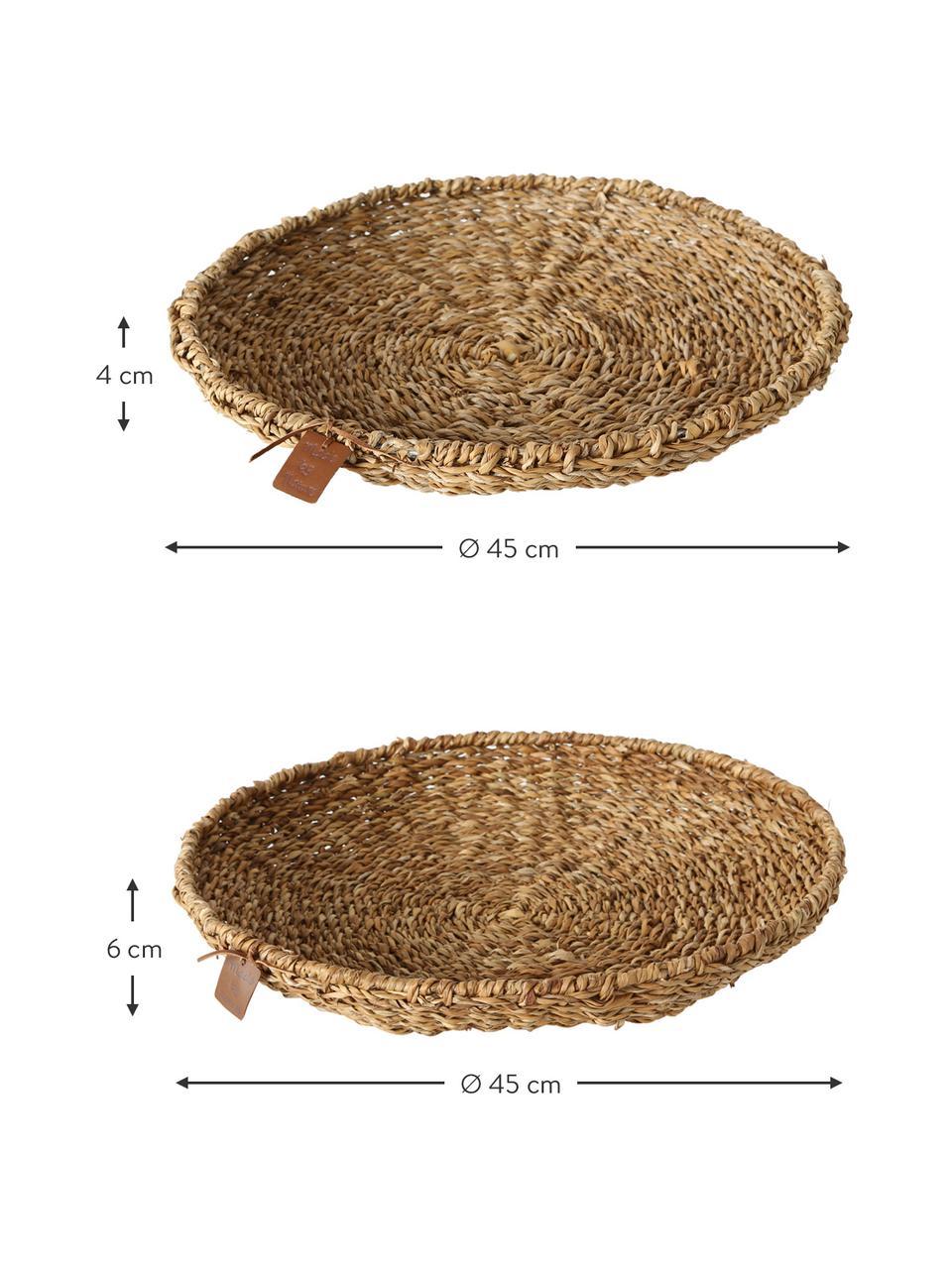 Deko-Schalen-Set Sophy, 2-tlg., Seegras, Braun, Set mit verschiedenen Größen