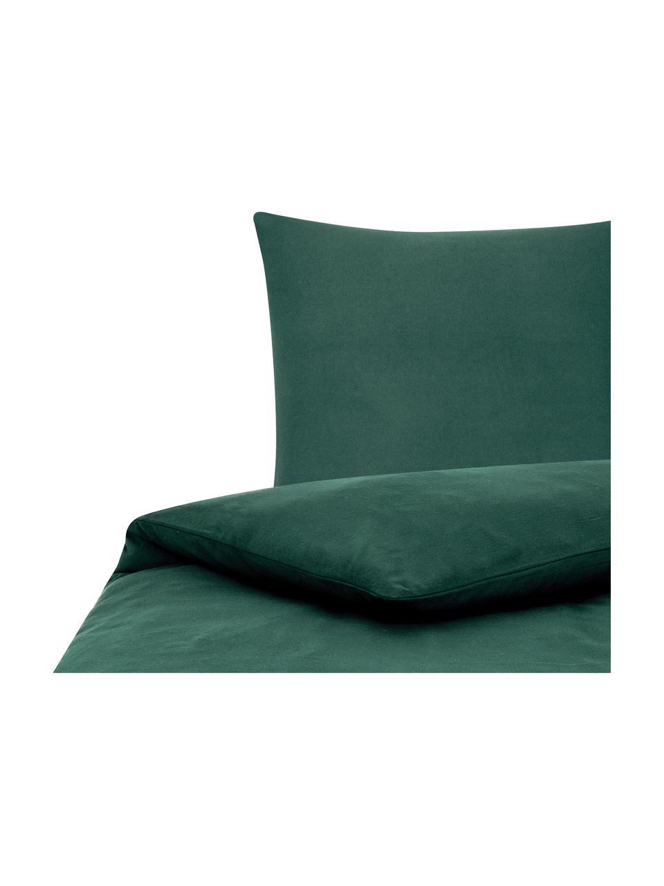 Flanell-Bettwäsche Biba in Waldgrün, Webart: Flanell Flanell ist ein k, Waldgrün, 135 x 200 cm + 1 Kissen 80 x 80 cm