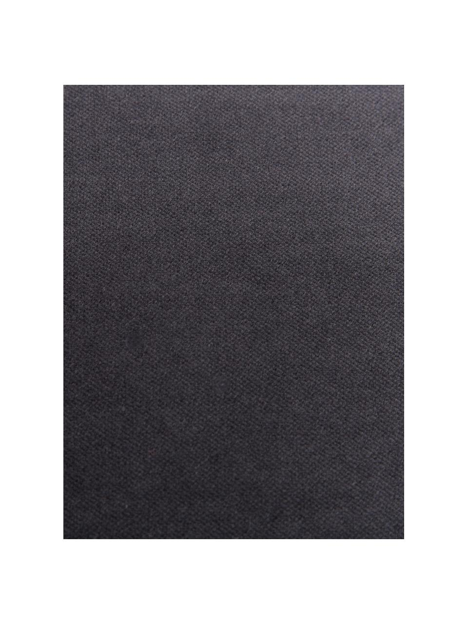 Poszewka na poduszkę z aksamitu Dana, 100% aksamit bawełniany, Czarny, S 40 x D 40 cm