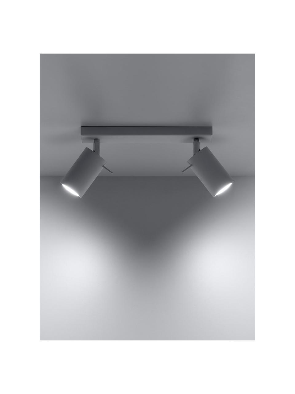 Faretti da soffitto bianchi Etna, Paralume: acciaio verniciato, Baldacchino: acciaio verniciato, Bianco, Larg. 30 x Alt. 15 cm