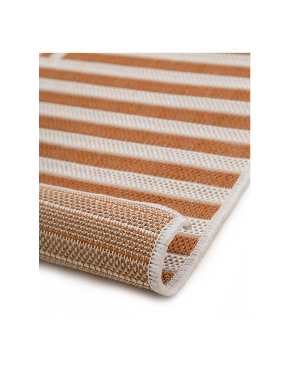 Gemusterter In- & Outdoor-Teppich Nillo, 100% Polyethylen, Orange, Creme, B 120 x L 170 cm (Größe S)