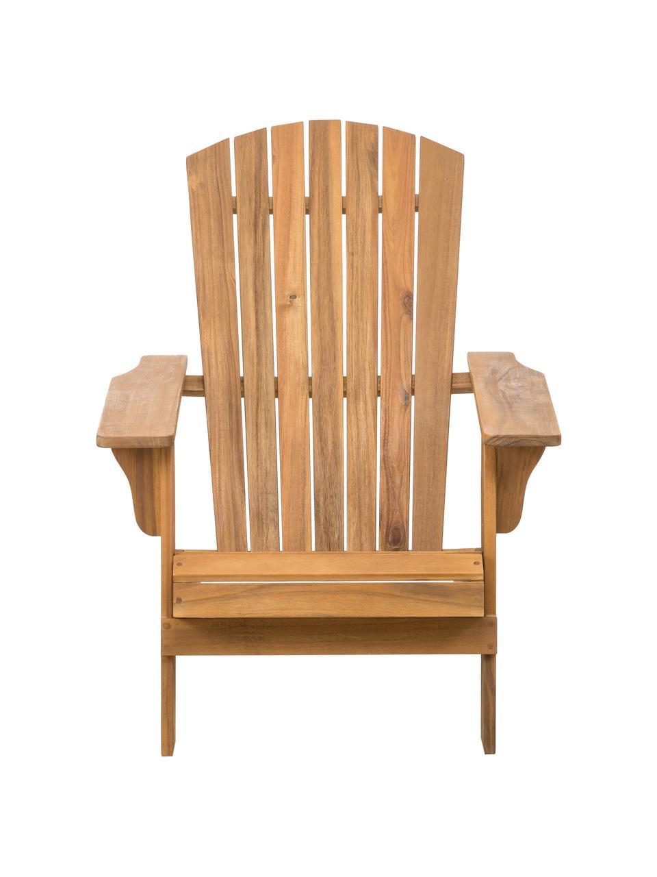 Fotel ogrodowy Charlie, Lite drewno akacjowe, olejowane, Brązowy, S 93 x G 74 cm