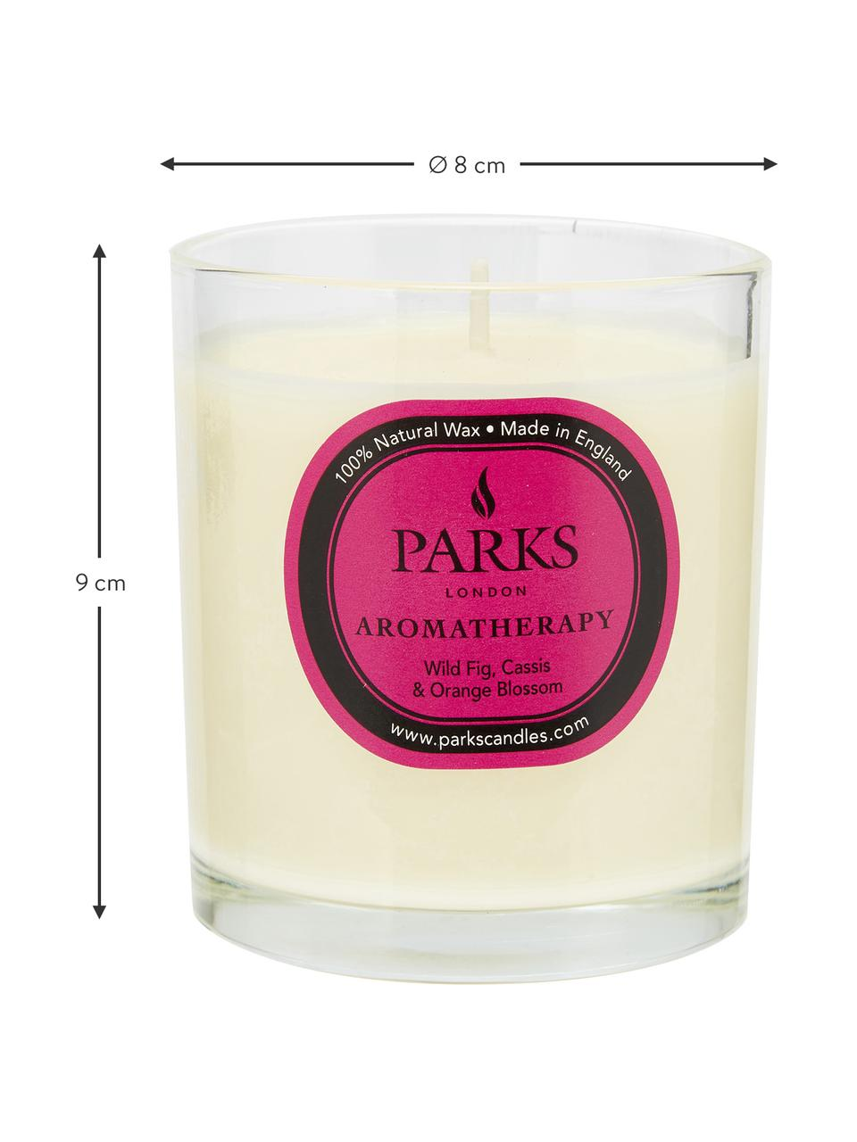 Duftkerze Aromatherapy (Feige, Cassis & Orange), Behälter: Glas, Feige, Cassis & Orange, Ø 8 x H 9 cm