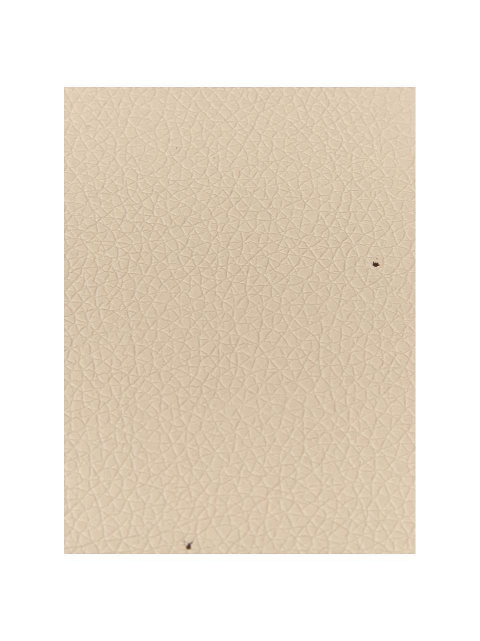 Eckige Kunstleder-Untersetzer Pik in Beige, 4 Stück, Kunstleder (PVC), Beige, 10 x 10 cm