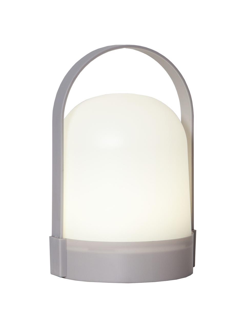 Kleine Mobile Tischlampe Lette mit Timer, Lampenschirm: Kunststoff, Weiß, Grau, Ø 14 x H 22 cm