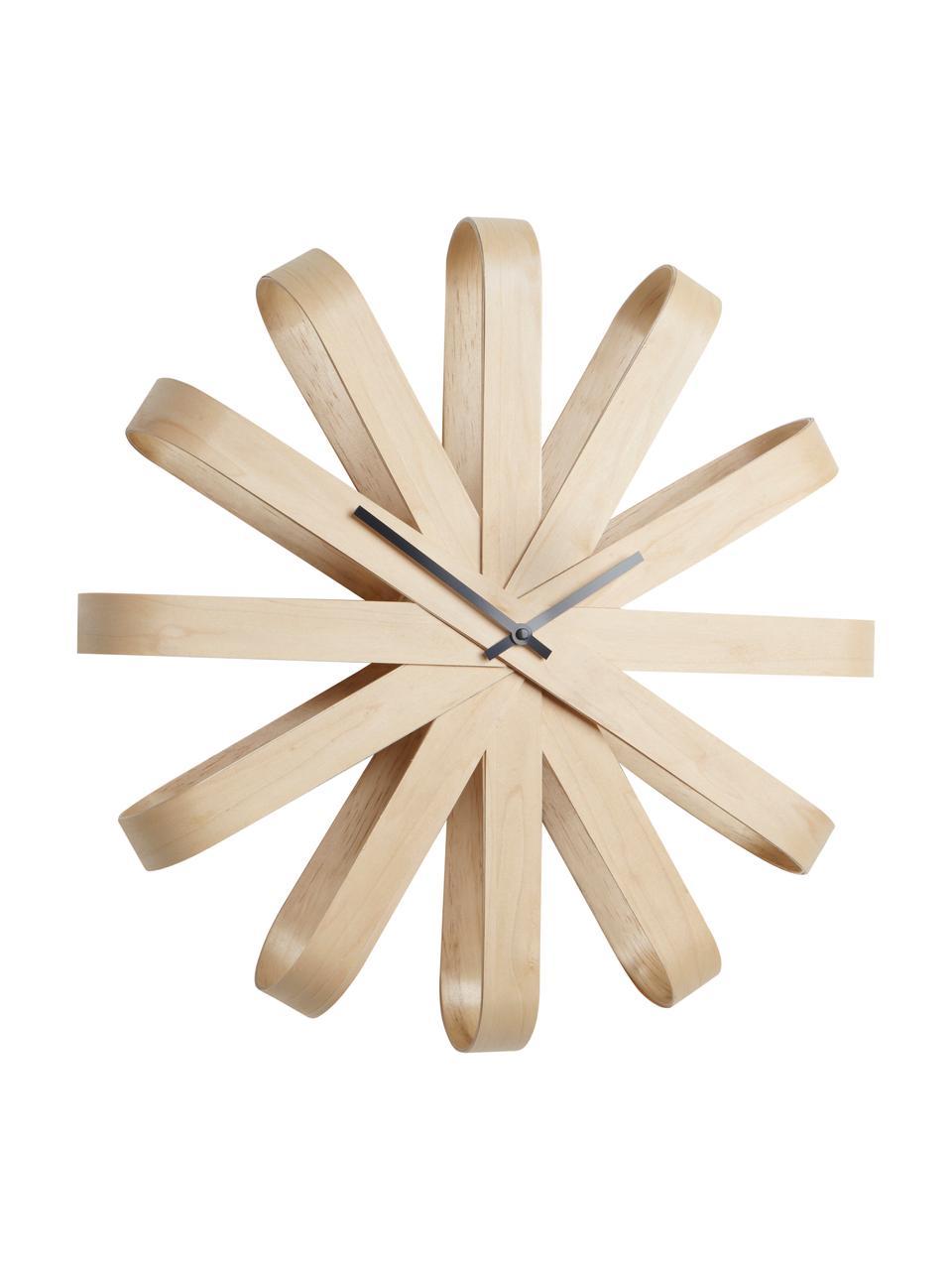 Reloj de pared Ribbon, Agujas: metal, Haya, Ø 51 cm