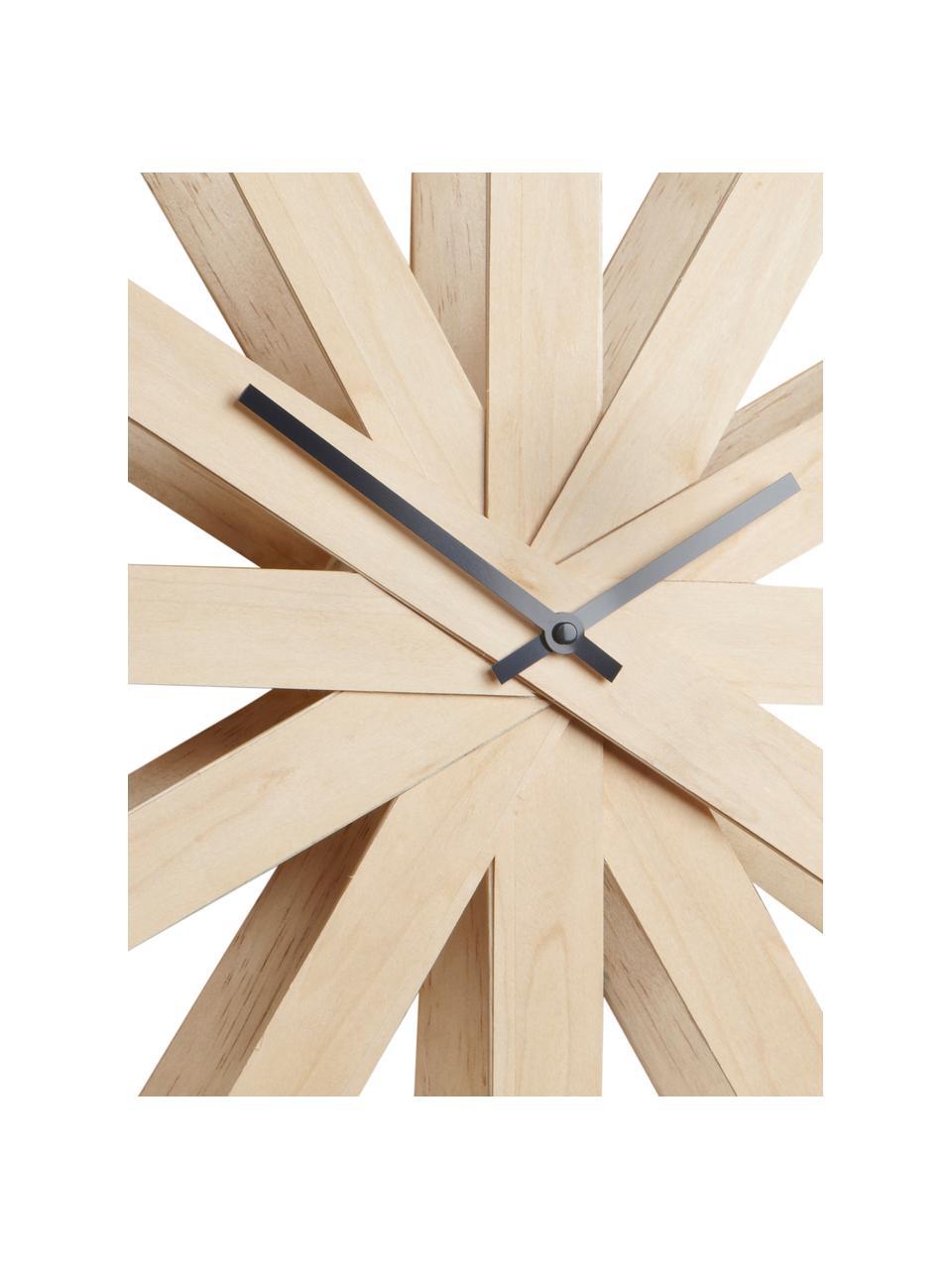Zegar ścienny Ribbon, Drewno bukowe, antracytowy, Ø 51 cm