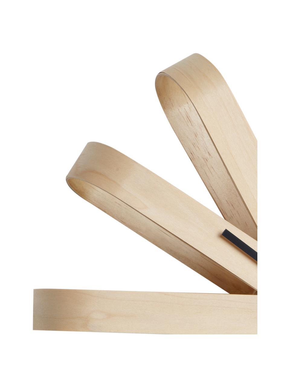 Wanduhr Ribbon, Zeiger: Metall, Buchenholz, Anthrazit, Ø 51 cm