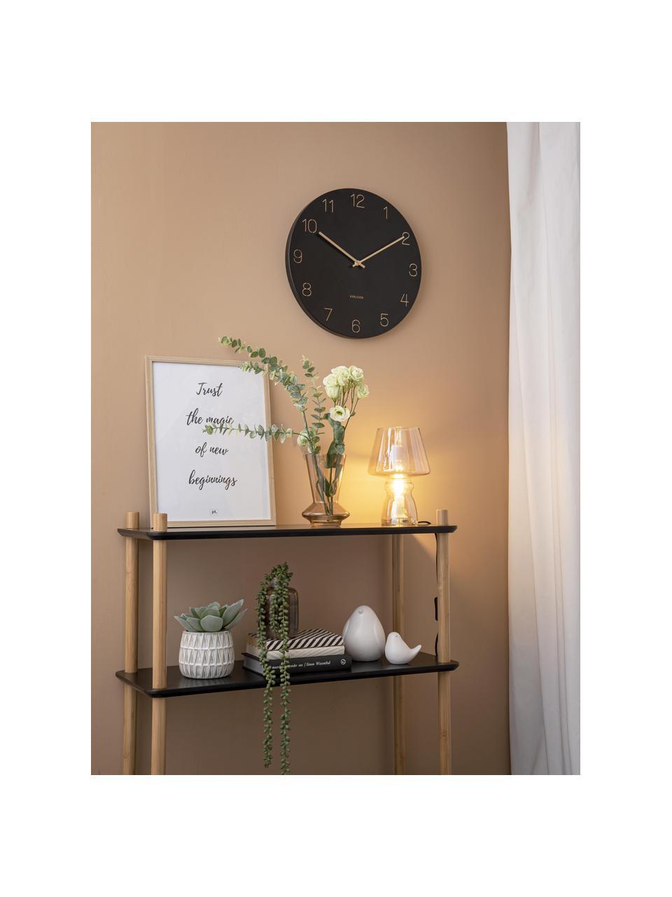 Orologio da parete Charm, Metallo rivestito, Nero, ottonato, Ø 40 cm