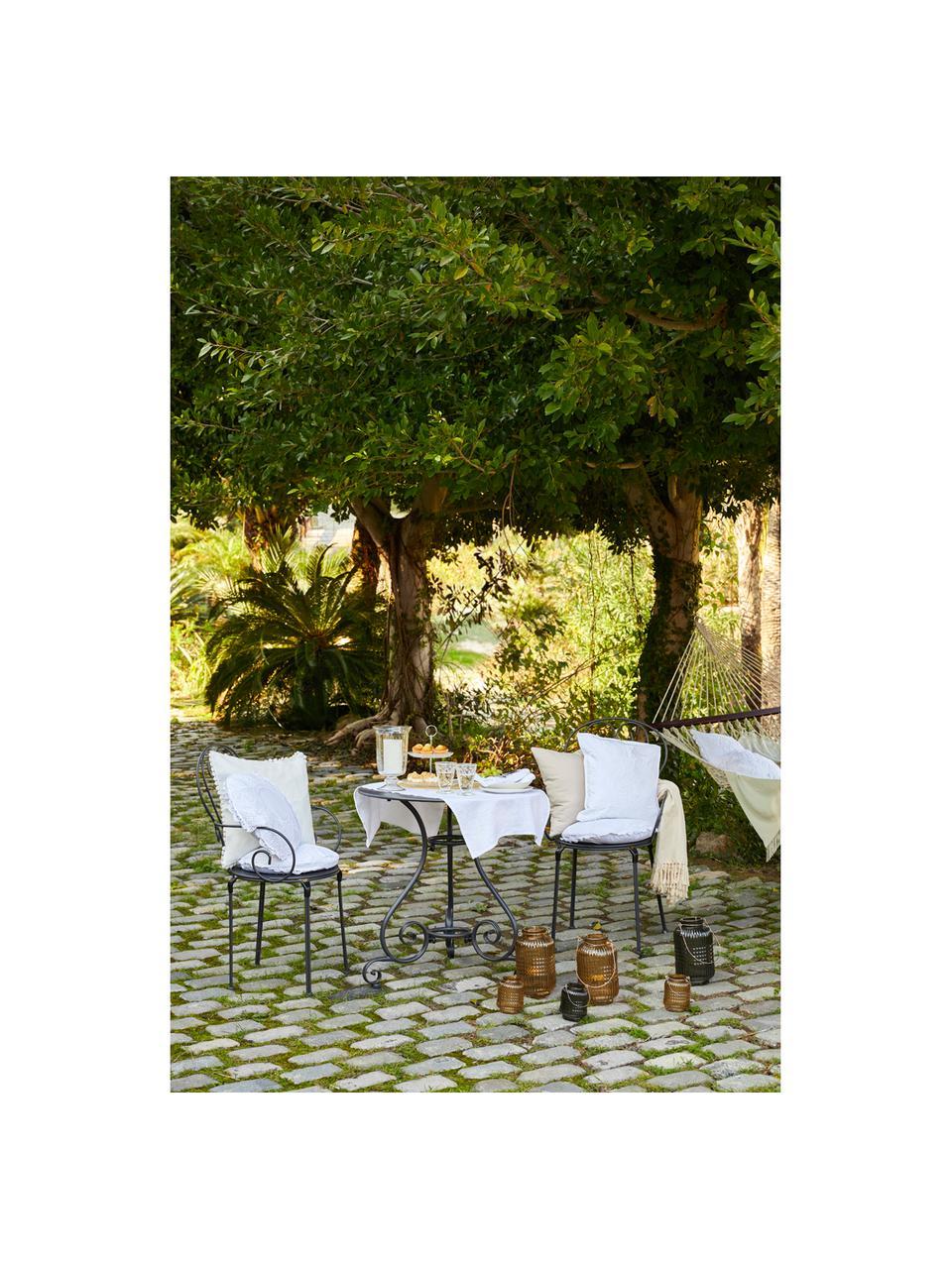 Table de jardin ronde en acier Etienne, Gris foncé