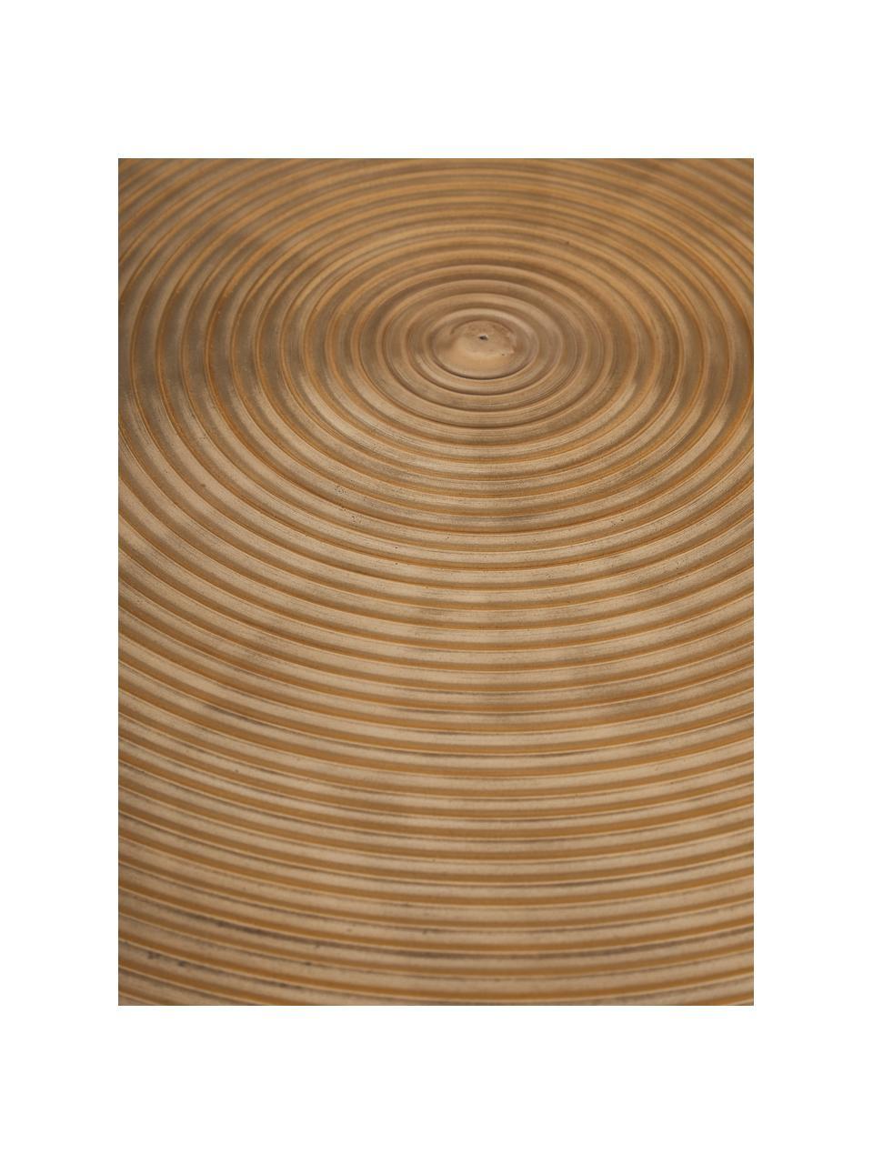 Okrągły stół do jadalni Hypnotising, Aluminium lakierowane, Odcienie mosiądzu, Ø 92 x W 76 cm