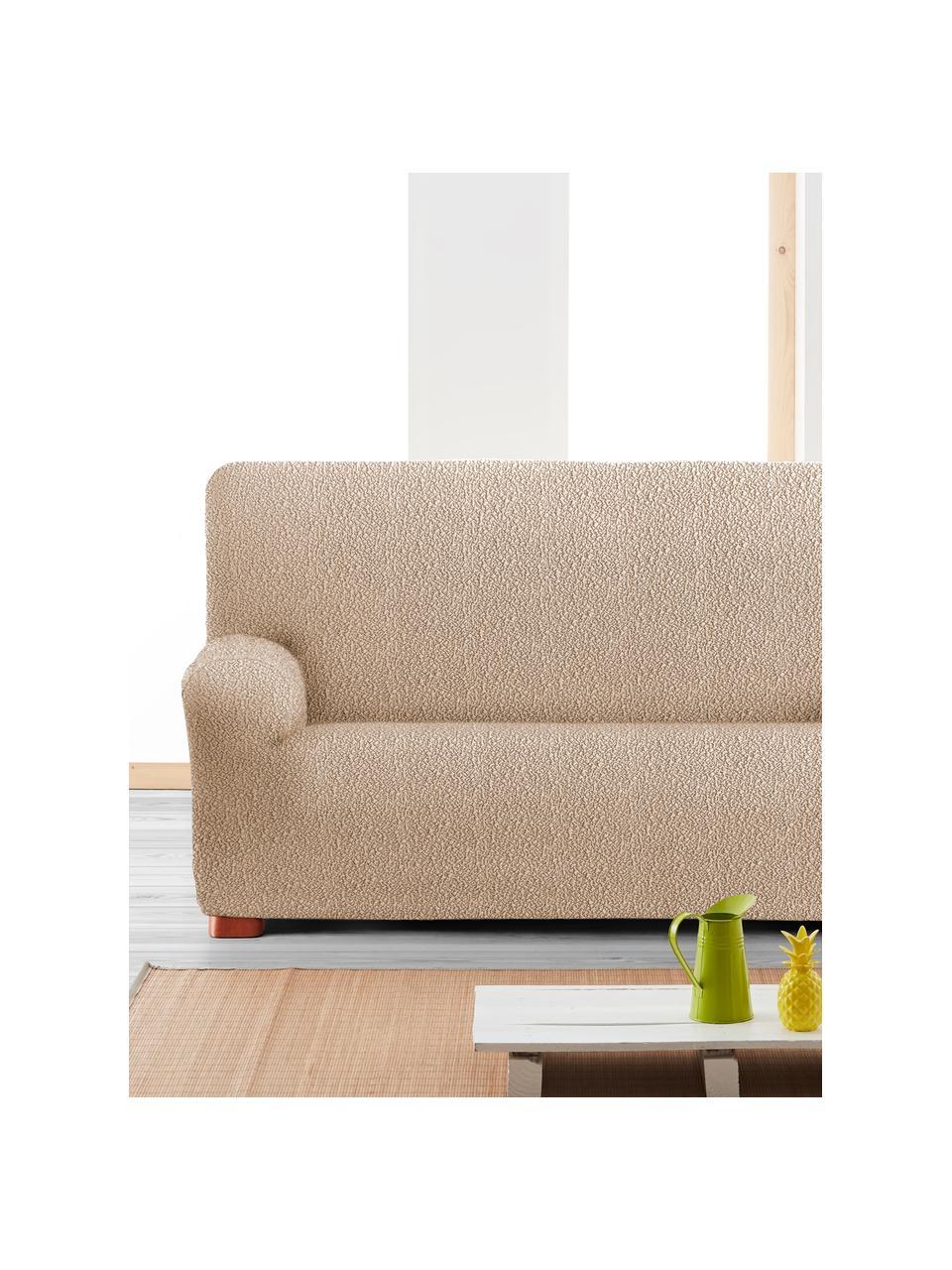 Pokrowiec na sofę Roc, 55% poliester, 35% bawełna, 10% elastomer, Beżowy, S 200 x W 120 cm