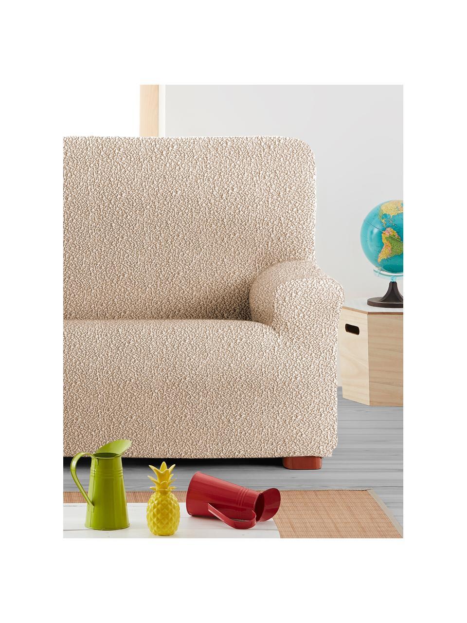 Copertura divano Roc, 55% poliestere, 35% cotone, 10% elastomero, Beige, Larg. 200 x Alt. 120 cm
