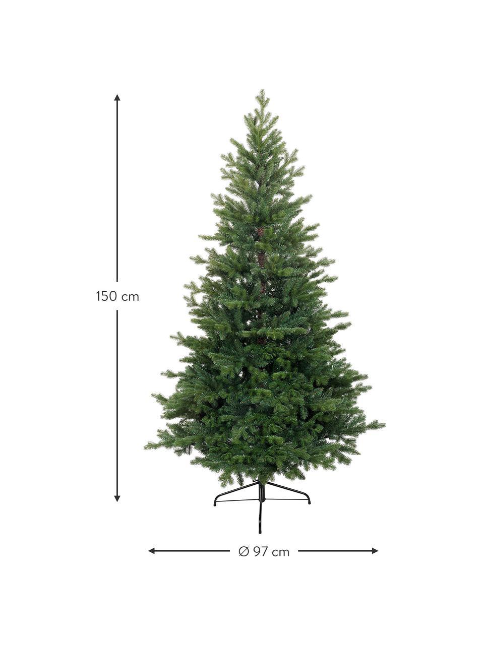 Decoratieve kerstboom Allison, Voet: metaal, Groen, Ø 97 x H 150 cm