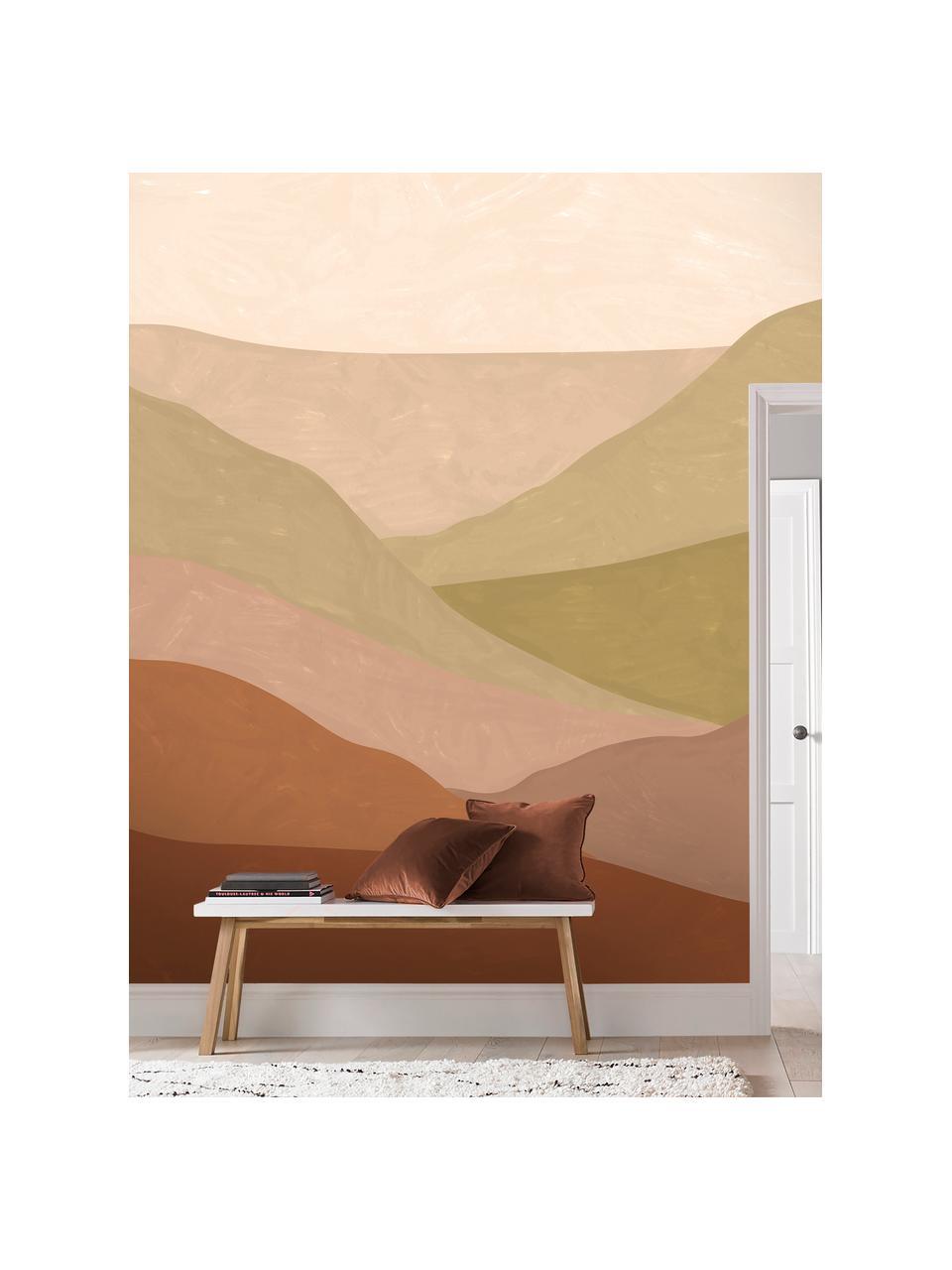 Adesivo murale Desert Landscape, Tessuto non tessuto, Tonalità marroni e beige, Larg. 300 x Alt. 280 cm