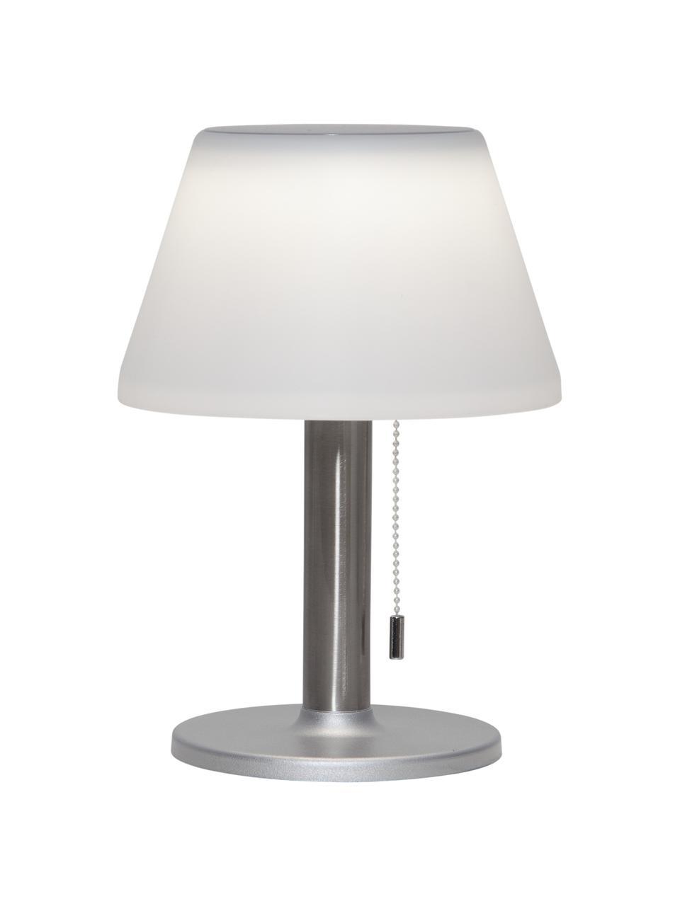 Zewnętrzna lampa solarna Solia, Biały, stal, Ø 20 x W 28 cm