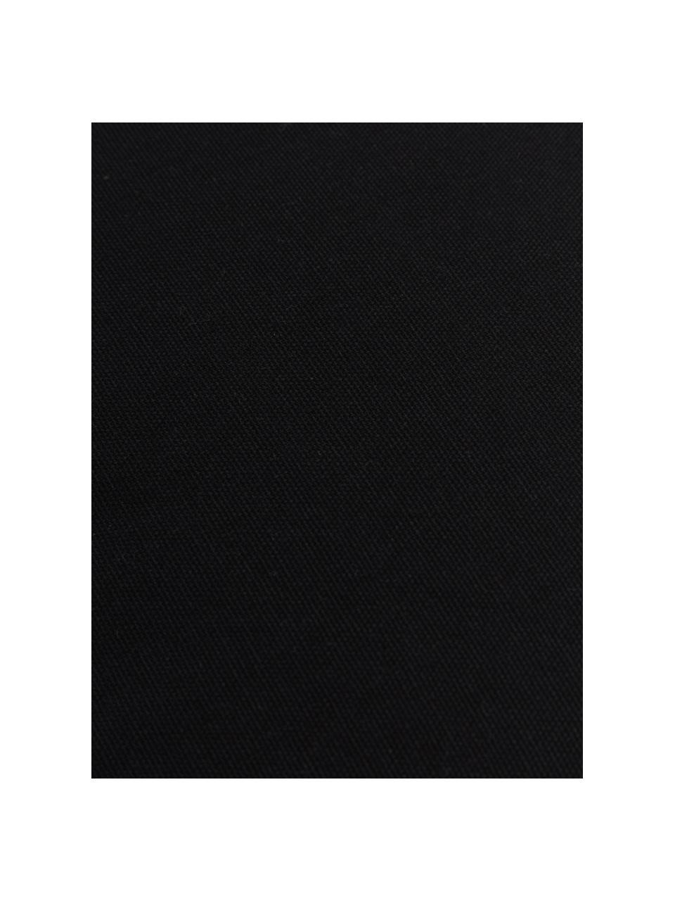 Sitzkissen Zoey in Schwarz, Bezug: 100% Baumwolle, Schwarz, 40 x 40 cm