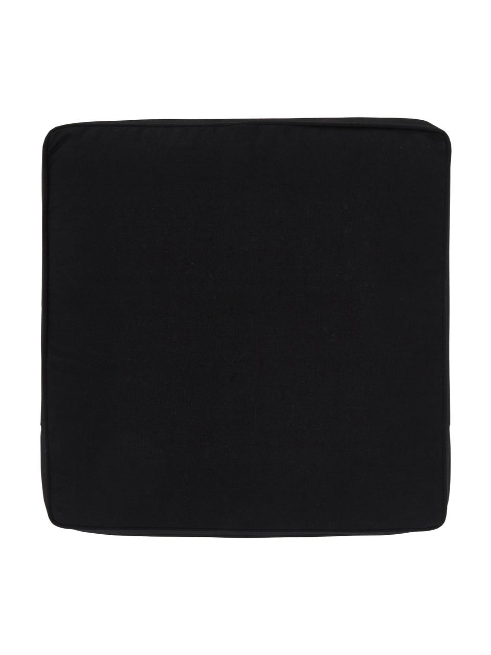 Stoelkussen Zoey in zwart, Zwart, 40 x 40 cm