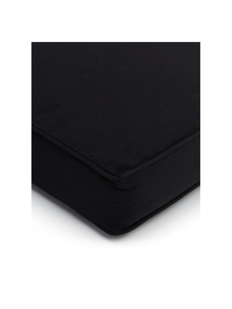 Cuscino sedia nero Zoey, Rivestimento: 100% cotone, Nero, Larg. 40 x Lung. 40 cm