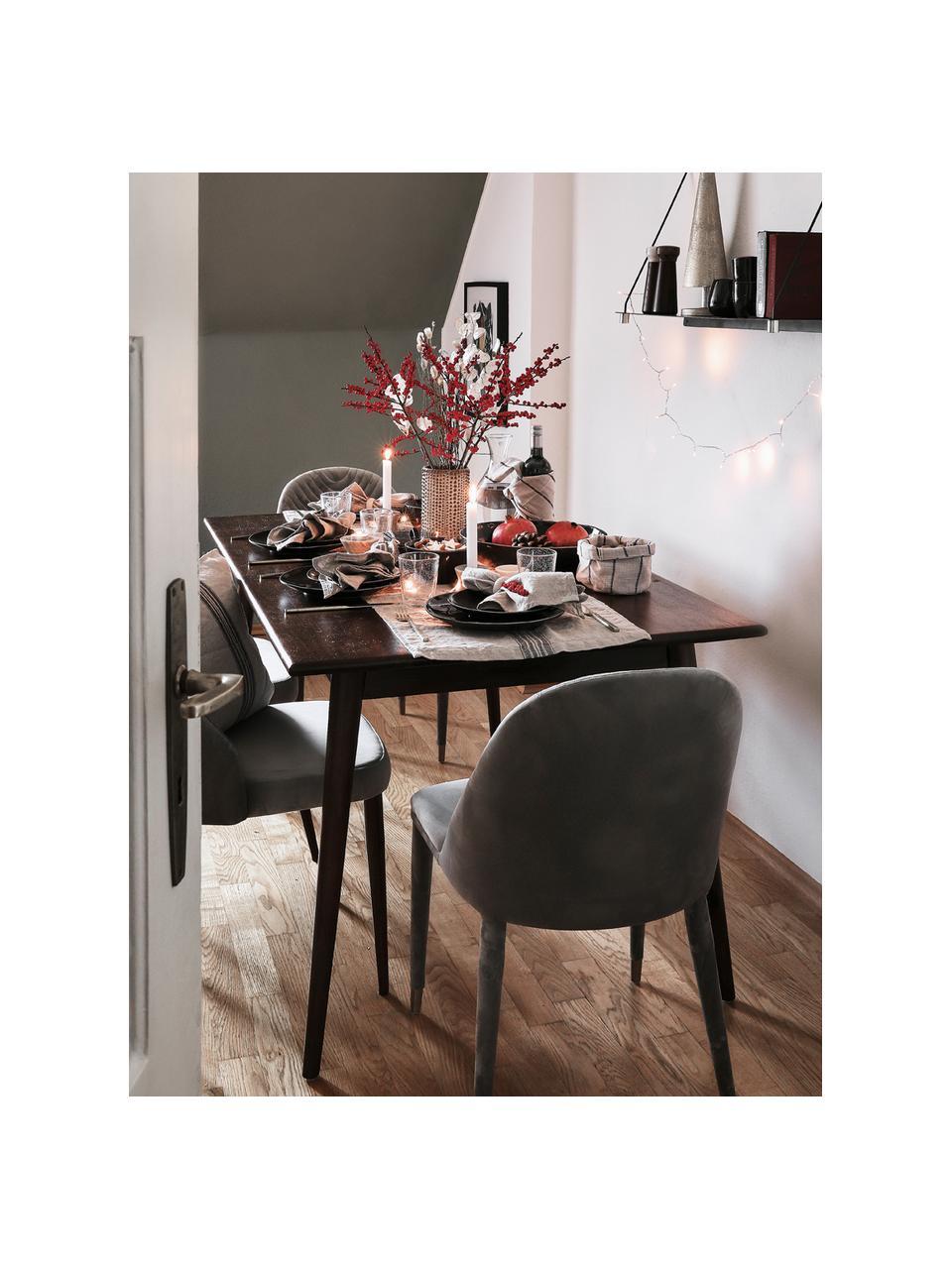 Tavolo in legno massello di mango Oscar, Legno di mango massiccio, verniciato, Marrone scuro, Larg. 180 x Prof. 90 cm
