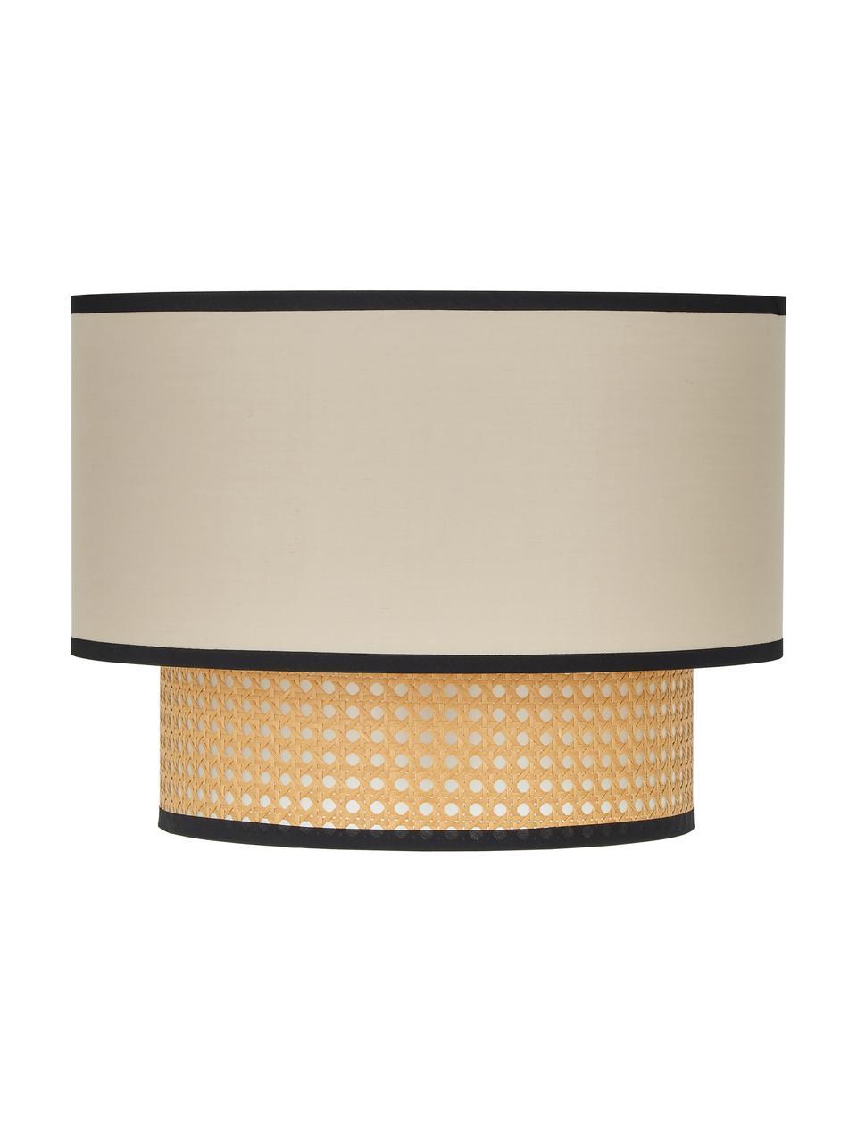 Lampa sufitowa z plecionki wiedeńskiej Vienna, Beżowy, czarny, kremowy, ∅ 40 x W 30 cm