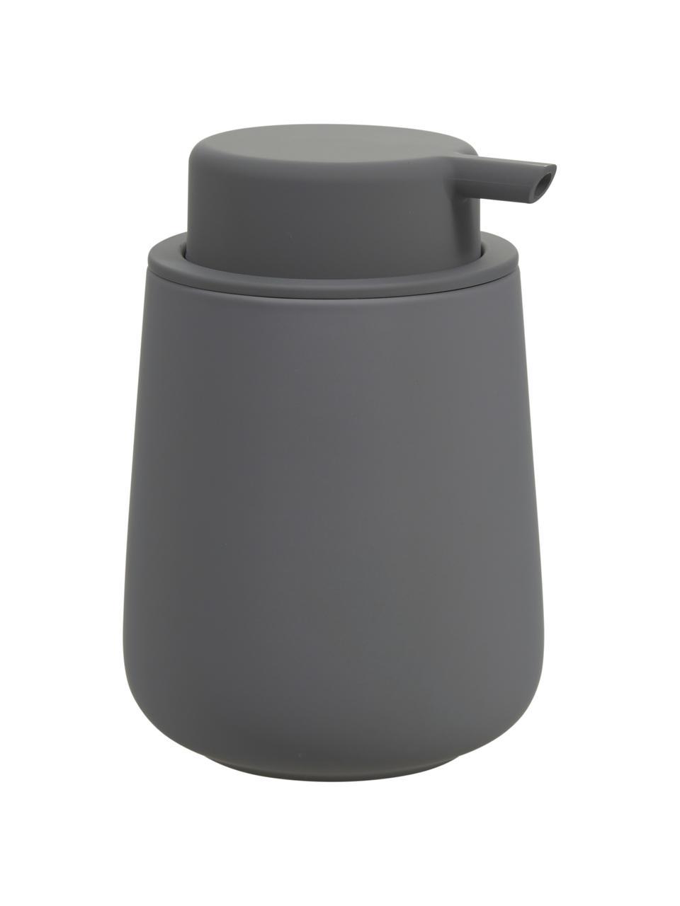 Distributeur de savon en porcelaine Push, Gris, mat
