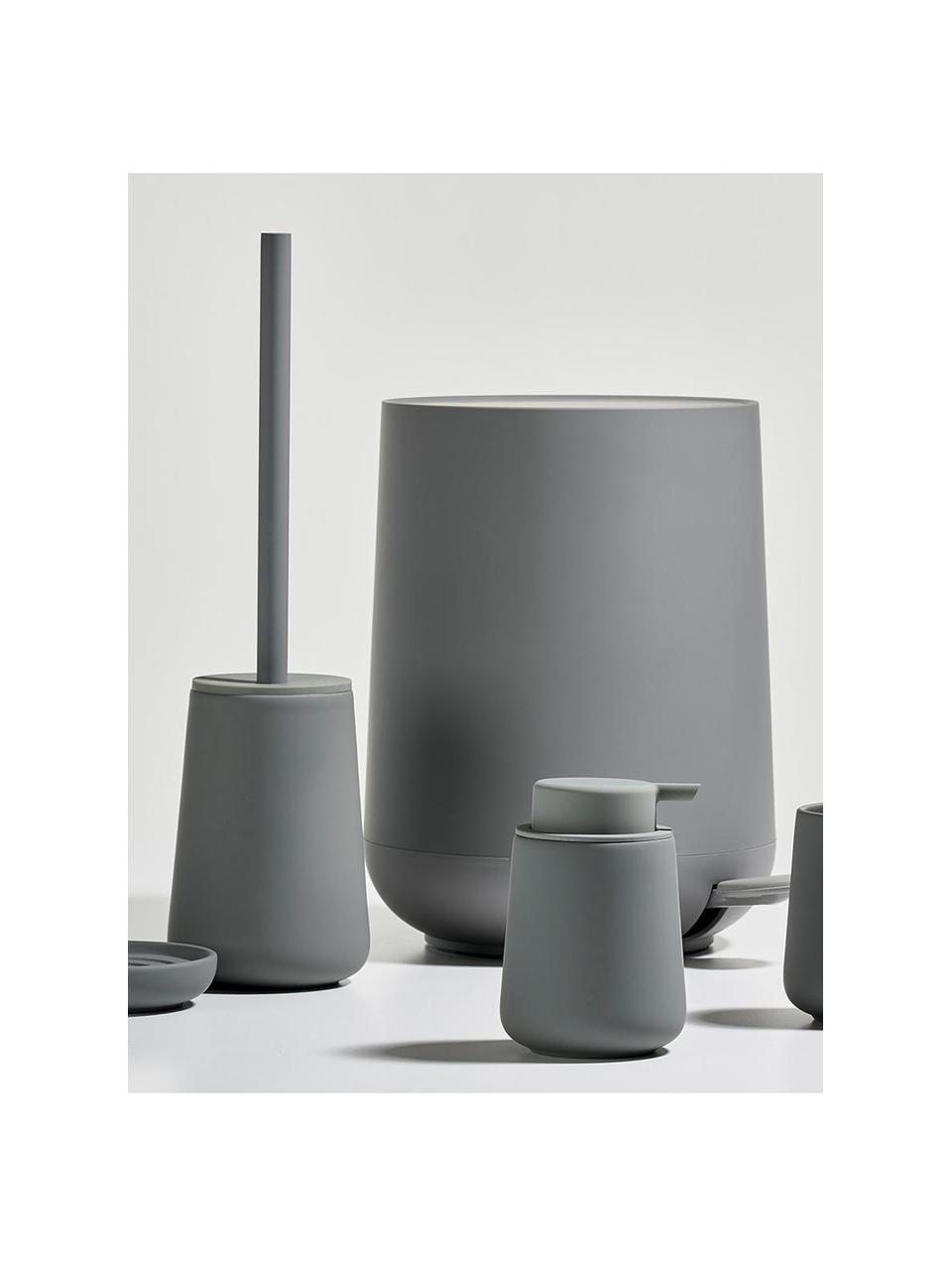 Dispenser sapone in porcellana Nova One, Contenitore: porcellana, Grigio opaco, Ø 8 x Alt. 12 cm