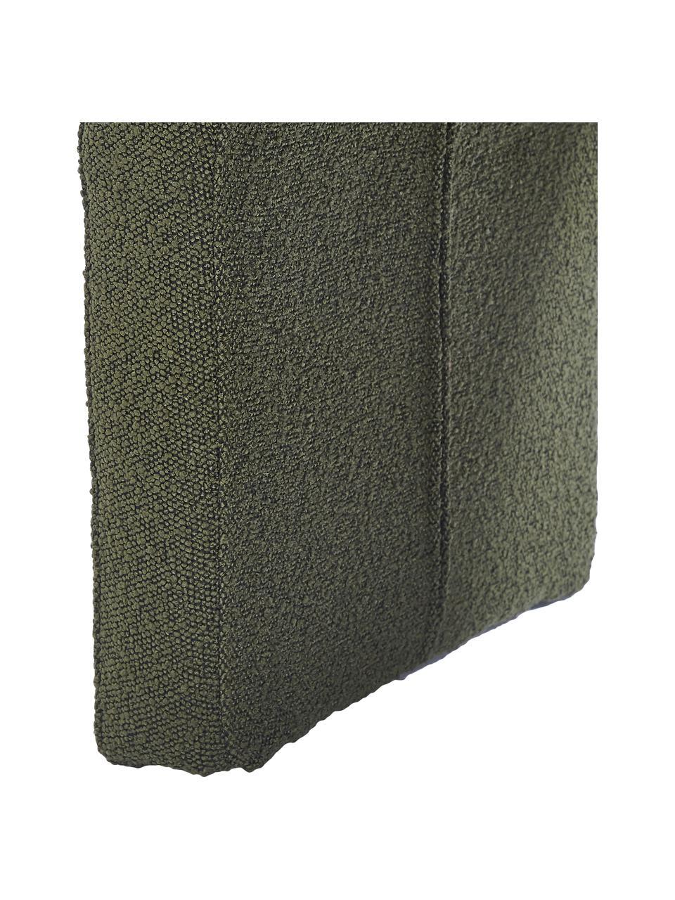 Banquette moderne en tissu bouclé Penelope, Tissu bouclé vert