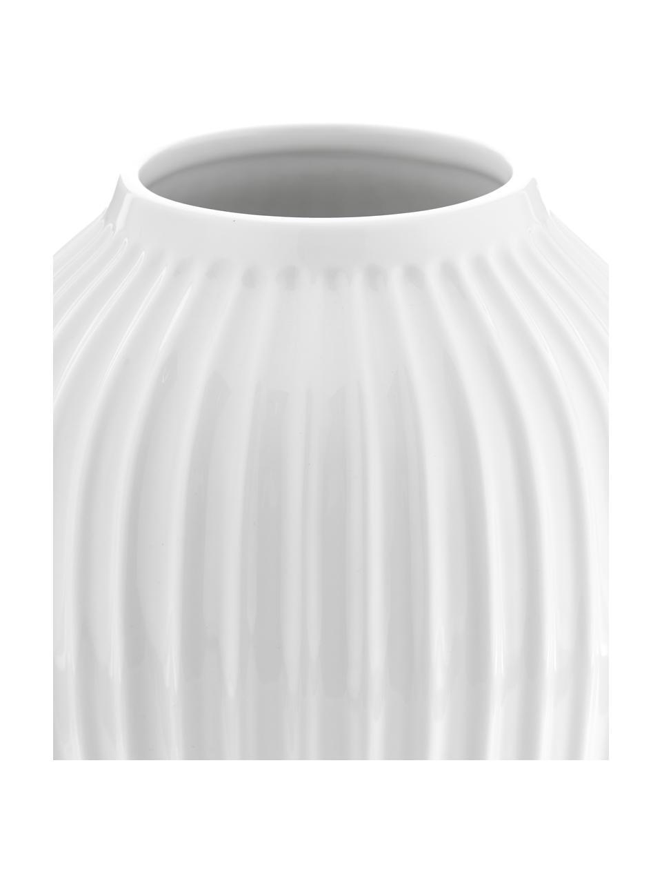 Handgemaakte design vaas Hammershøi, Porselein, Wit, Ø 20 x H 25 cm