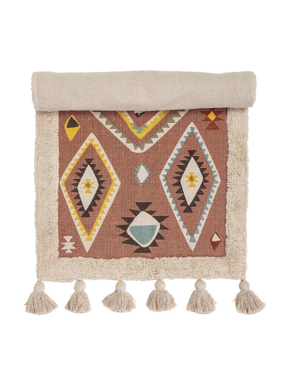 Tappeto in cotone Boho, Cotone, Multicolore, Larg. 70 x Lung. 120 cm (taglia XS)