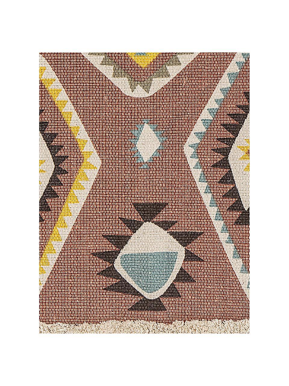 Teppich Boho, 100% Baumwolle, Mehrfarbig, B 70 x L 120 cm (Größe XS)