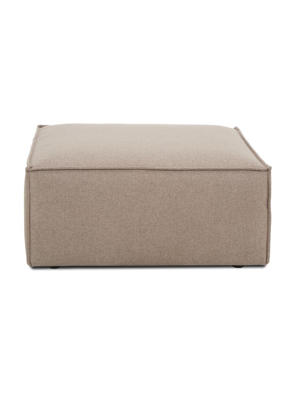 Pouf canapé tissu brun Lennon, Tissu brun