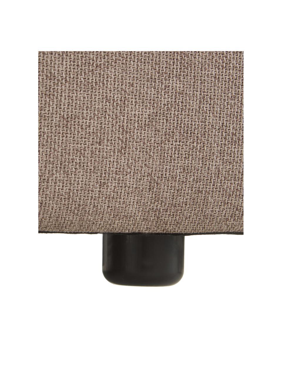 Poggiapiedi da divano in tessuto marrone Lennon, Rivestimento: 100% poliestere Con 115.0, Struttura: legno di pino massiccio, , Piedini: plastica I piedini si tro, Tessuto marrone, Larg. 88 x Alt. 43 cm