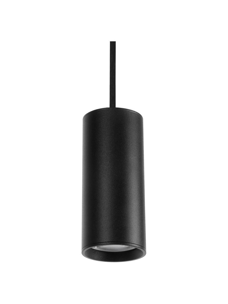Lampada a sospensione nera Aila, Paralume: alluminio rivestito, Baldacchino: alluminio rivestito, Nero, Ø 6 x Alt. 20 cm