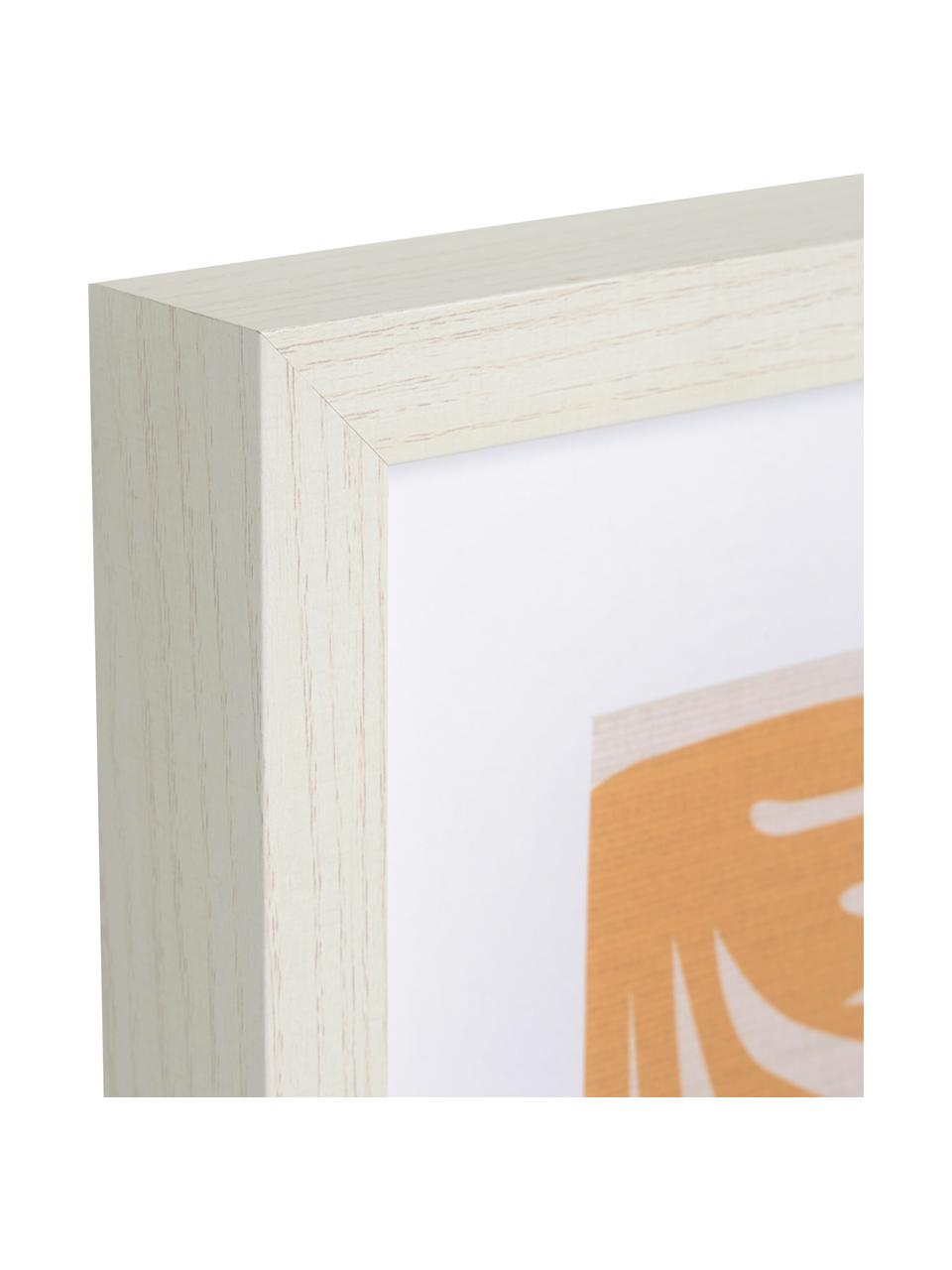 Oprawiony druk cyfrowy Kamara, Beżowy, pomarańczowy, niebieski, lila, S 50 x W 70 cm