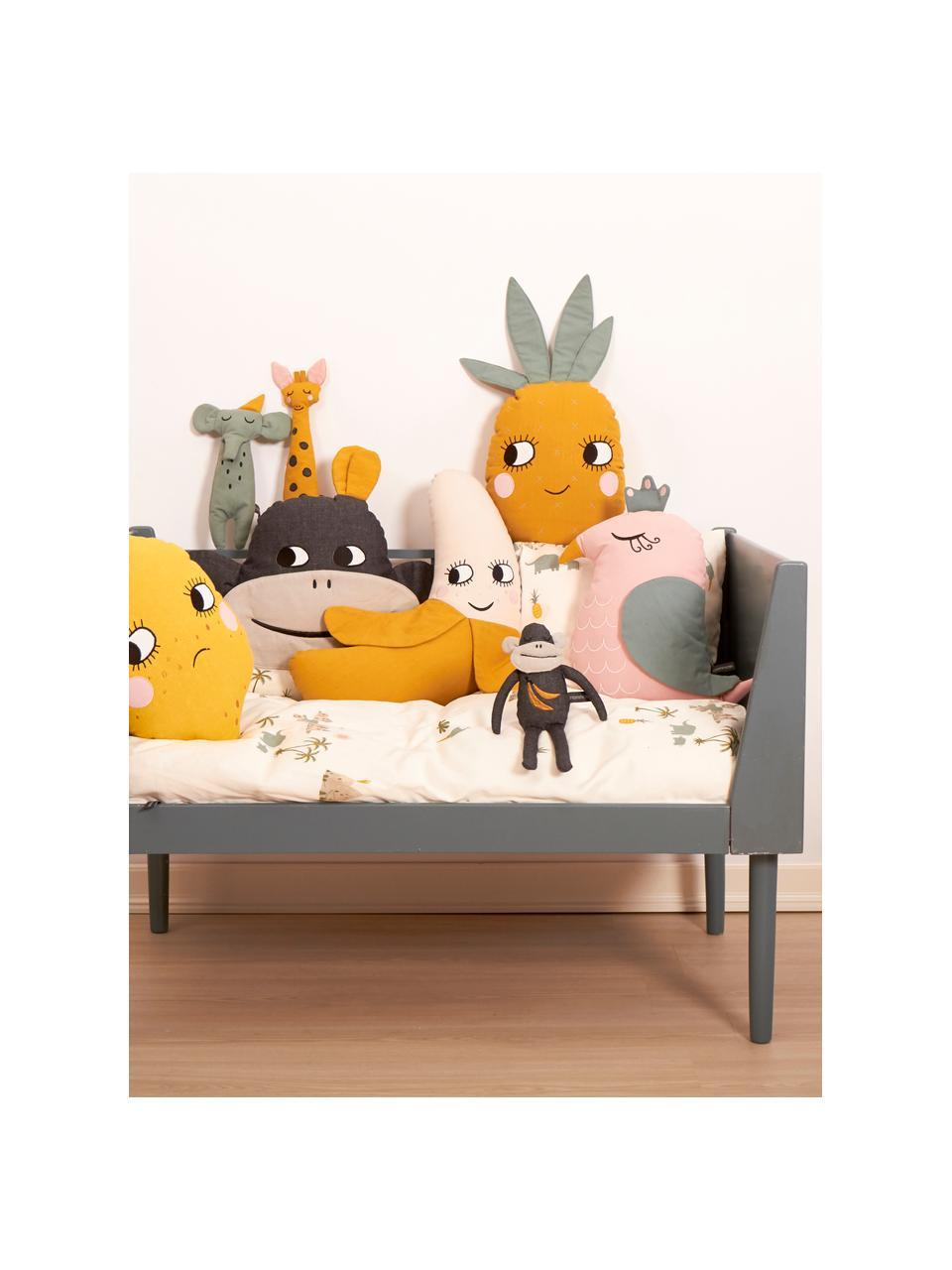 Poduszka z bawełny organicznej z wypełnieniem Pineapple, Żółty, S 30 x D 56 cm