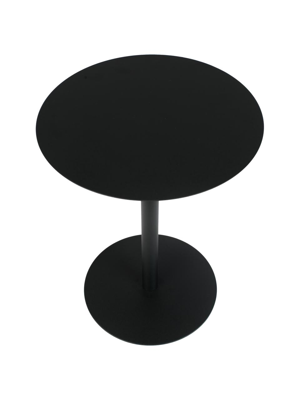 Kovový odkládací stolek Snow, Černá
