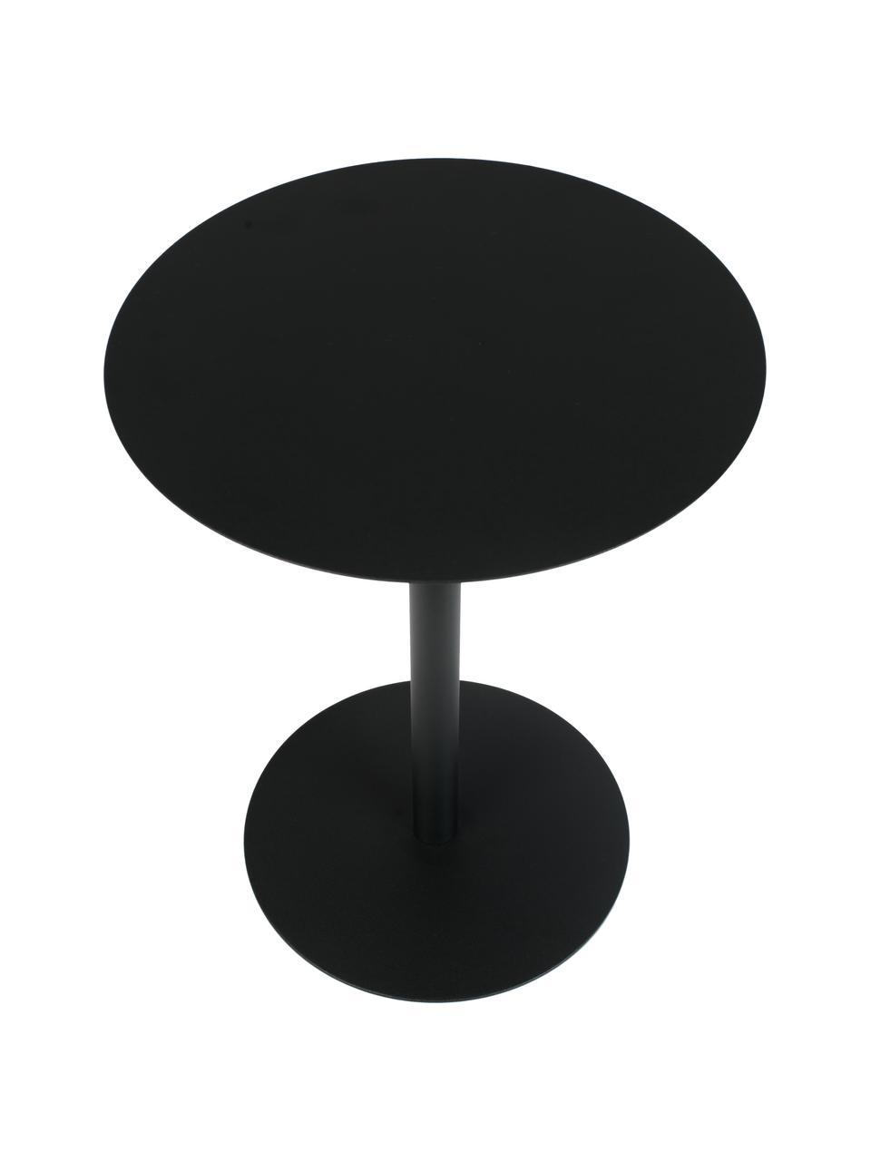 Tavolino rotondo in metallo nero Snow, Metallo verniciato a polvere, Nero, Ø 35 x Alt. 45 cm