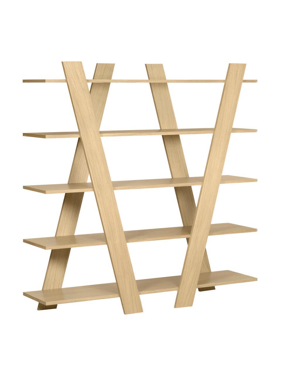 Regał z drewna naturalnego Blow, Drewno dębowe, S 156 x W 160 cm