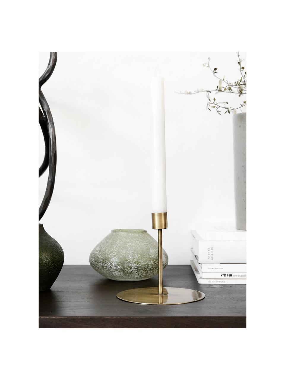 Świecznik Anit, Metal powlekany, Odcienie mosiądzu, Ø 13 x W 12 cm
