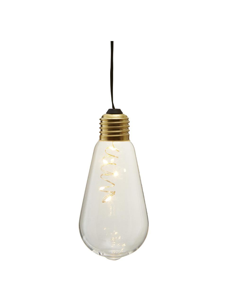 LED-Dekoleuchten Glow, 2 Stück, Lampenschirm: Glas, Transparent, Ø 6 x H 13 cm