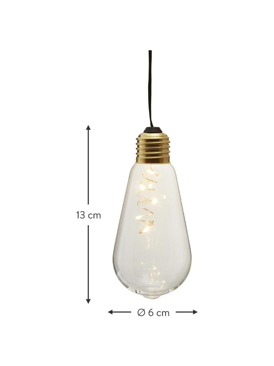 Lampadina decorativa a LED Glow 2pz, Paralume: vetro, Trasparente, Ø 6 x Alt. 13 cm
