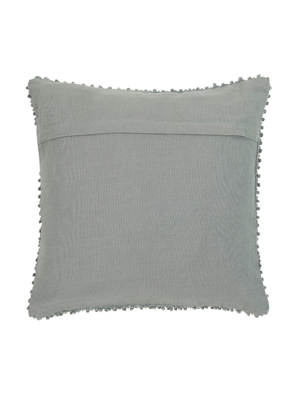 Federa arredo in cotone verde salvia Indi, 100% cotone, Verde salvia, Larg. 45 x Lung. 45 cm