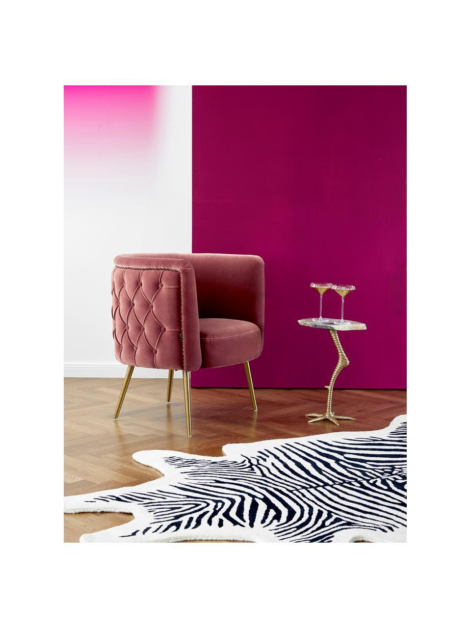 Samt-Cocktailsessel Such A Stud in Rosa, Bezug: Polyestersamt Der hochwer, Füße: Edelstahl, beschichtet, Rahmen: Sperrholz, Samt Pink, 72 x 79 cm