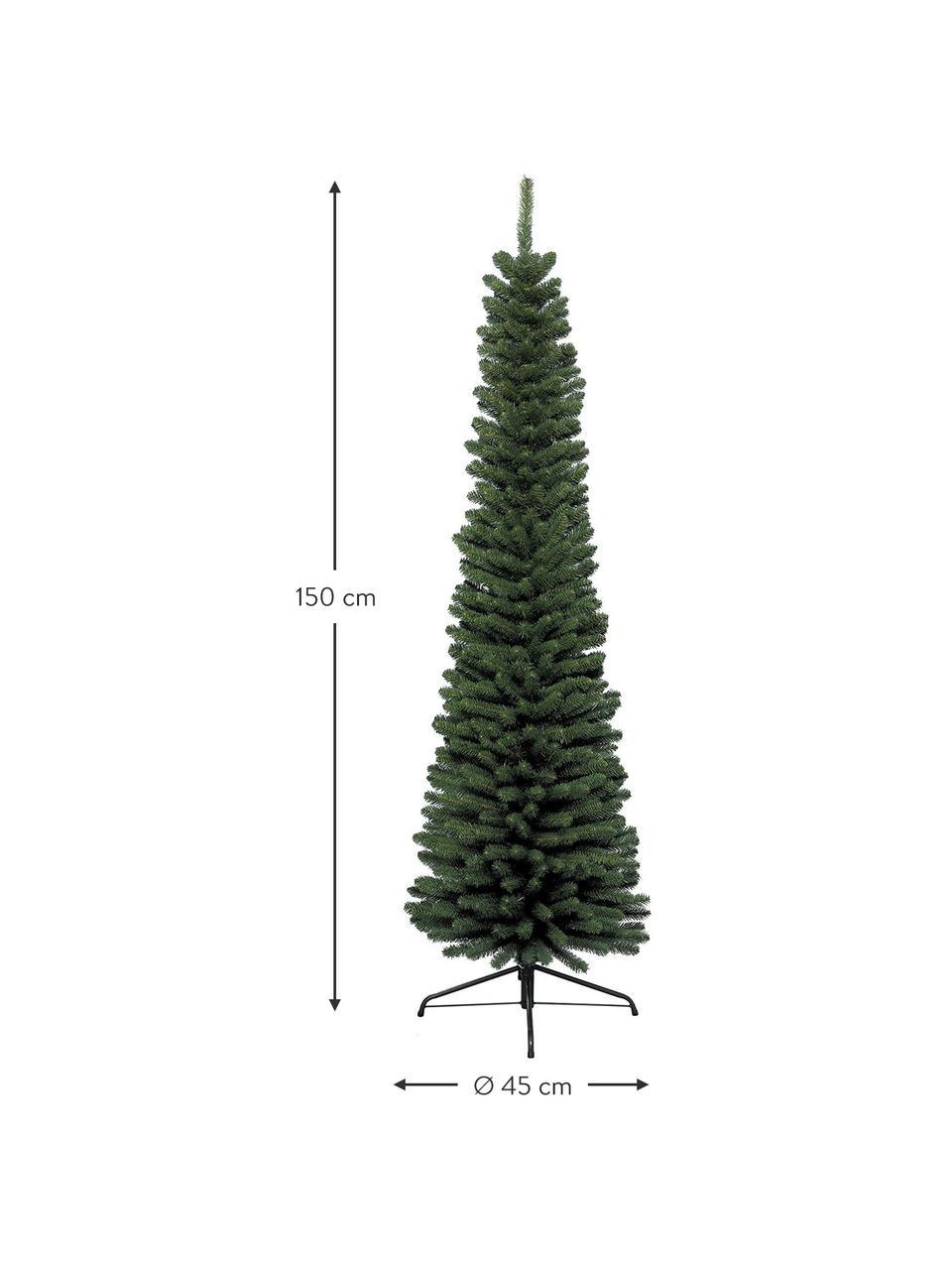 Künstlicher Weihnachtsbaum Pencil, Grün, Ø 45 x H 150 cm