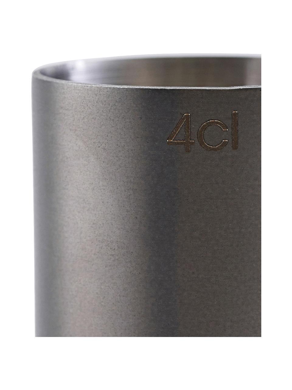 Misurino color antracite opaco Gunmetal, Acciaio inossidabile rivestito, Antracite, Ø 4 x Alt. 9 cm