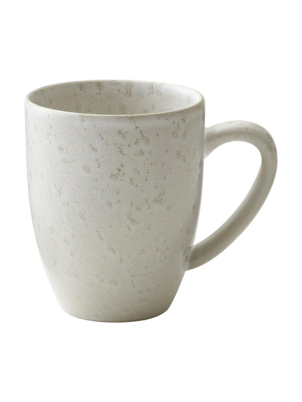Tazza in gres beige chiaro maculato Bizz, Gres, Beige chiaro, Ø 9 x Alt. 10 cm