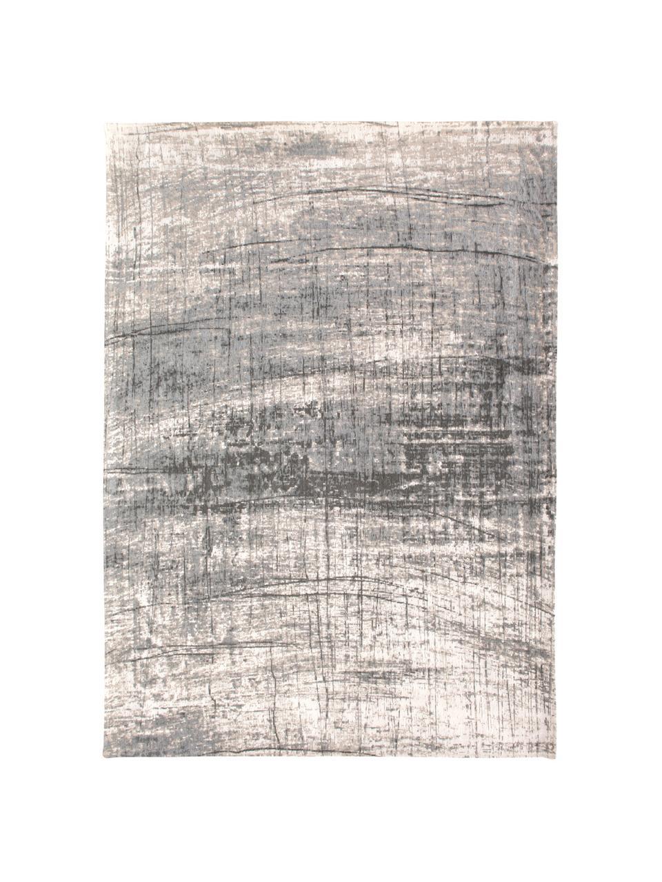 Design Teppich Griff im Vintage Style, Flor: 85%Baumwolle, 15%hochgl, Webart: Jacquard, Grautöne, Weiß, B 230 x L 330 cm (Größe L)