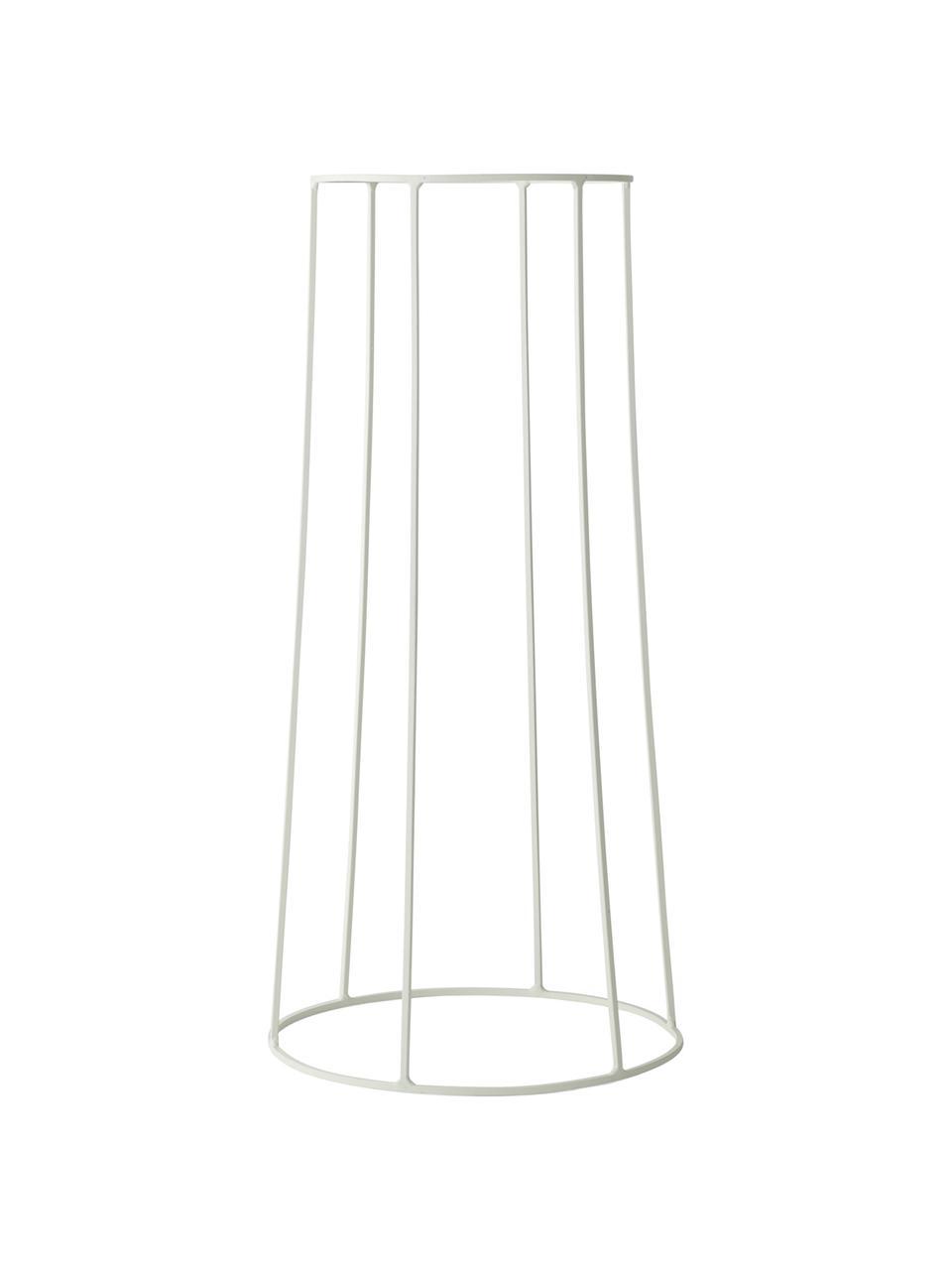 Stand per portavaso Wire Base, Acciaio verniciato a polvere, Bianco, Ø 23 x Alt. 60 cm