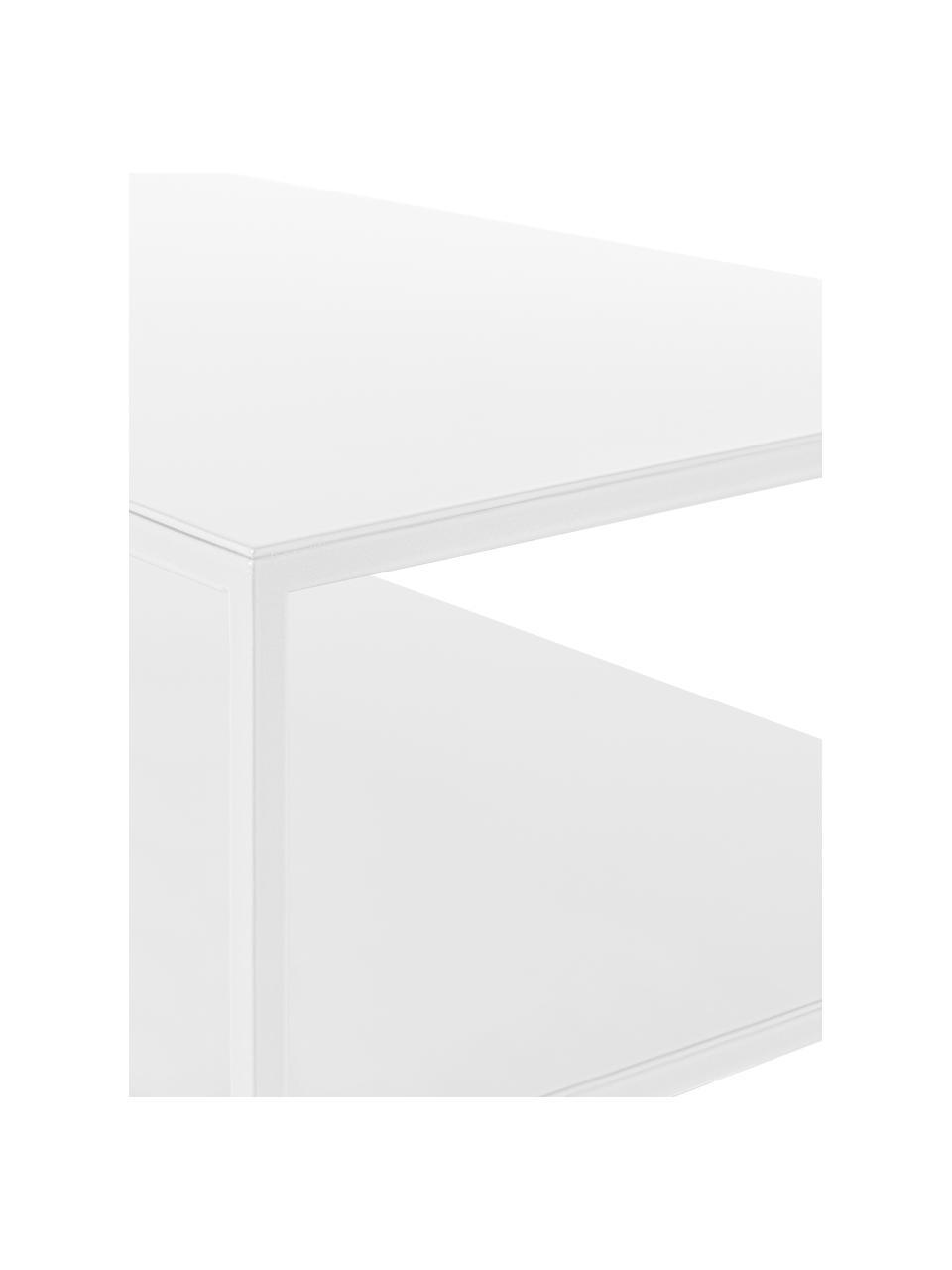 Konsola z metalu Tensio Duo, Metal malowany proszkowo, Biały, S 100 x T 35 cm